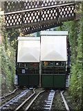 SS7249 : Passing cars on the Lynton & Lynmouth Cliff Railway by Gareth James