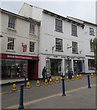 SO2914 : British Heart Foundation shop and Boots, Cross Street, Abergavenny by Jaggery