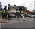 TQ1568 : Pelican crossing, Hampton Court Road, East Molesey by Jaggery