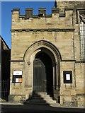 NZ2364 : The Church of St. Matthew, Big Lamp, Summerhill Street, NE4 - west porch by Mike Quinn