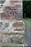 SD6592 : Benchmark on St Andrew's Church by Roger Templeman