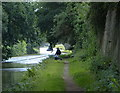 SD3609 : Fisherman along the Leeds and Liverpool Canal by Mat Fascione