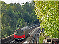 TQ2388 : Northern Line train between Brent Cross and Hendon Central by Mike Quinn