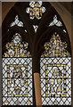 SP0202 : Medieval stained glass window, St John the Baptist church, Cirencester by Julian P Guffogg