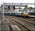 ST3088 : Arriva Trains Wales train leaving Newport railway station platform 2 by Jaggery