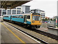 ST1875 : Penarth train arrives at Cardiff Central station by Jaggery