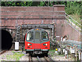 TQ2288 : Southbound Northern Line train approaching Hendon Central tube station by Mike Quinn