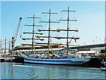 NZ4057 : Tall ship Mir by Rose and Trev Clough