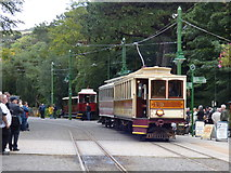SC4384 : Laxey:Winter Saloon Car No 19 and trailer by Dr Neil Clifton