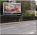 ST2390 : Lucozade advert above Tredegar Street, Risca by Jaggery