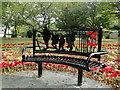 TM5494 : Memorial seat in Belle Vue Park, Lowestoft by Adrian S Pye