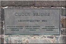 NT2540 : Cuddy Bridge plaque, Peebles by Graeme Yuill