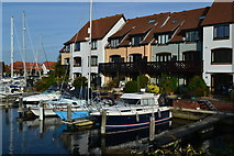 SU4208 : Houses and boats, Hythe Marina by David Martin