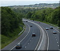 SD8333 : M65 motorway towards junction 11 in Burnley by Mat Fascione