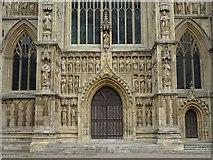 TA0339 : The west door, Beverley Minster by Philip Halling