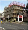 SO0428 : Red Dragon under scaffolding, Brecon by Jaggery