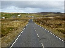 HU4586 : A968 near West Sandwick by David Dixon