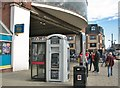 TG5207 : Cash machine and phone box by the bus station : Week 42