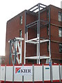SO8754 : Worcestershire Royal Hospital - steelwork for new bridge by Chris Allen