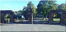 J3472 : Ornamental gates of Ormeau Park by Eric Jones