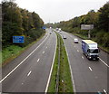 SS6699 : West along the M4 motorway, Morriston, Swansea by Jaggery