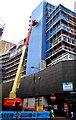 ST3188 : Working high above Upper Dock Street, Newport by Jaggery