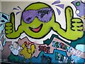 TG5107 : Graffiti in the underpass by Evelyn Simak