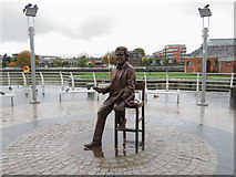 R5757 : Terry Wogan's statue in Limerick by Gareth James