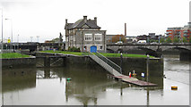 R5757 : Shannon Rowing Club and lock on the River Shannon by Gareth James