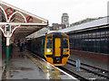 SN5881 : A train for Machynlleth at Aberystwyth by John Lucas
