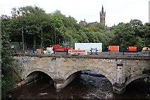 NS5666 : Construction Work, Snow Bridge, Glasgow by Graeme Yuill