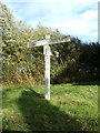 TL9225 : Signpost on Foxes Lane by Geographer