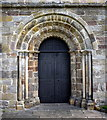SD6178 : Norman doorway, St Mary's church, Kirkby Lonsdale by Bill Harrison
