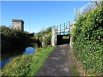 O1337 : Royal Canal and towpath beneath railway bridges by Gareth James