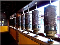 NT2400 : Prayer wheels at Samyé-Ling Tibetan Centre by Oliver Dixon