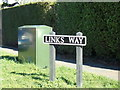 TM4198 : Links Way sign by Adrian Cable