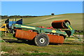 SU0515 : Farm equipment by the barn at Toby's Bottom by David Martin