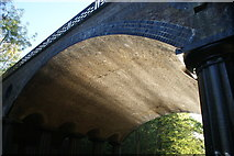 TQ2783 : View of solar reflection off the water on the ceiling of a bridge over the Regent's Canal by Robert Lamb