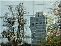 SP3378 : Reflections in a commercial building by Philip Halling