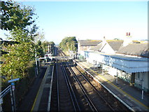 TQ6304 : View from the footbridge at Pevensey & Westham station by Marathon