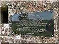 TG0232 : War Memorial plaque on a WW2 pillbox by Adrian S Pye