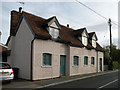 TL5533 : Pargetted Cottage in Debden High Street by Keith Edkins