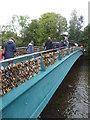SK2168 : Bakewell - locks of love! by Chris Allen
