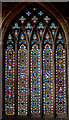 SK7519 : West window, St Mary's church, Melton Mowbray by J.Hannan