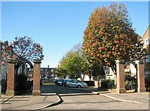 TG5206 : Entrance to Sidney Close from Middlegate by Evelyn Simak