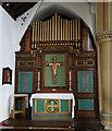 TF6741 : The War Memorial organ in Hunstanton St. Edmund's church by Adrian S Pye