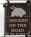 SS6594 : Chicken On The Road name sign, Swansea by Jaggery