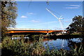 TL2168 : New bridge over the Great Ouse under construction by Tiger