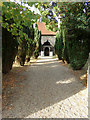 TL9125 : Church Path to St. Margaret & St. Catherine's Church by Adrian Cable