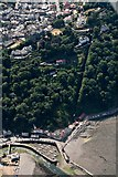 SS7249 : Lynton Cliff Railway: aerial 2018 by Chris